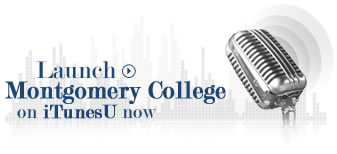 launch montgomery college on itunesU now